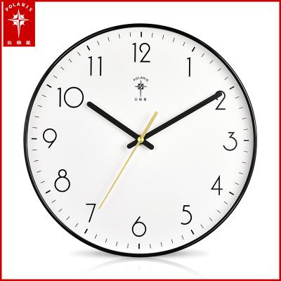 北極星(POLARIS)石英鐘鐘表掛鐘客廳時鐘靜音掛表現代創意簡約辦公家用裝飾表時尚北歐大氣藝術輕奢個性臥室日歷壁鐘