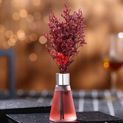 定制北歐宿舍清新劑室內香薰防風淡香浴室持久新款熏香清香劑美女工具 送50ml補充液 玫瑰--熱戀青春—紅色