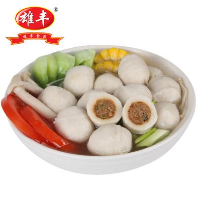 雄豐包心魚丸肉丸500g關東煮火鍋食材批發海鮮火鍋丸子美味豆撈
