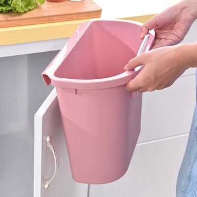 廚房掛式垃圾桶小收納盒桌面可掛墻櫥柜家用紙簍小懸掛式壁掛的