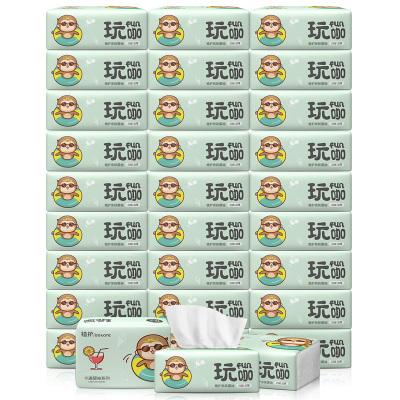植护 抽纸 玩咖系列(绿)4层加厚280张*30包 小规格柔韧纸巾