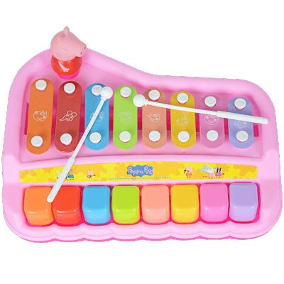 小猪佩奇敲琴益智木琴婴儿童八音敲琴8个月音乐玩具琴宝宝手敲琴玩具