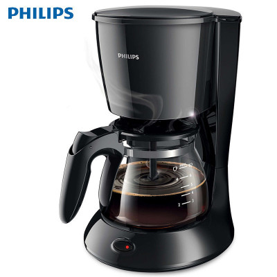 飛利浦(PHILIPS)咖啡機HD7432 家用全自動滴漏式美式 咖啡壺 750瓦 可自動關機 黑色