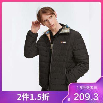 商場同款馬克華菲19新款男式短款羽絨服雙面可穿時尚休閑外套