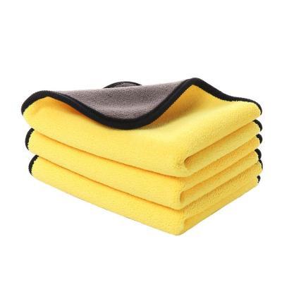汽車用洗車毛巾擦車布超強吸水加厚抹布車載內飾清潔專用巾不掉毛(顏色隨機30*30尺寸毛巾 三條裝)