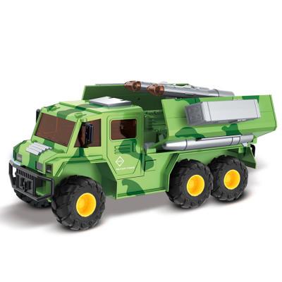 小小部队 暴风战队陆霸装甲车 军事模型 导弹战车 装甲车玩具 儿童玩具 地对空导弹车
