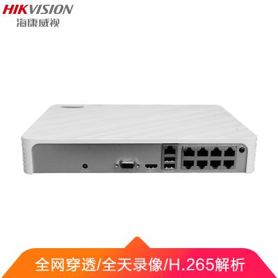 海康威视网络监控硬盘录像机高清网络8路监控主机带POE供电 DS-7108N-F1/8P(B)