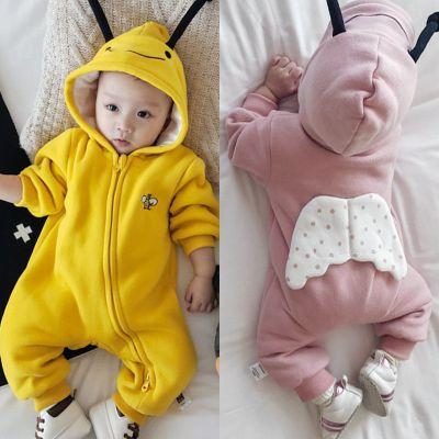 搭啵兔婴儿连体衣春秋冬宝宝哈衣儿满月爬服0-36婴幼儿冬季衣服秋装