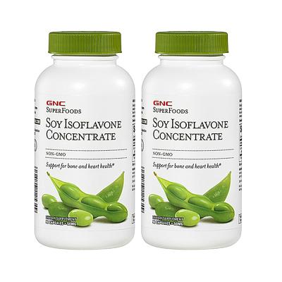 健安喜(GNC) 美国进口浓缩大豆异黄酮50mg软胶囊 90粒2瓶装