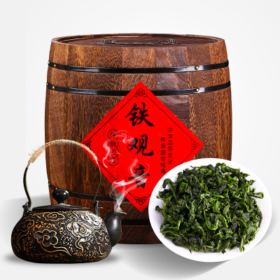 新茶濃香型散裝蘭花香安溪鐵觀音500g春茶茶烏龍茶茶葉禮盒裝