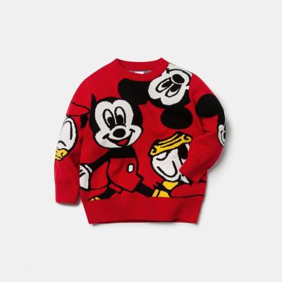 亲子装一家三口迷你巴拉巴拉儿童毛衫男女童新年款亲子装米奇毛衣迪士尼IP针织衫