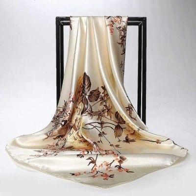 諾妮夢 女士高檔絲綢大方巾職業絲巾結婚會議禮物絲綢披肩圍巾秋冬絲巾頭巾