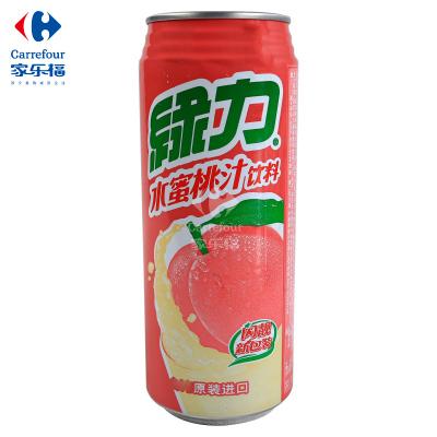 【家乐福】绿力水蜜桃汁饮料490ml