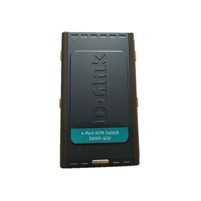 友讯(D-Link)DKVM-42U 4端口USB接口桌面型 KVM切换器 电脑切换器