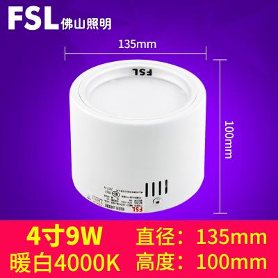 FSL брэндийн таазны гэрэл бөөрөнхий хэлбэртэй  9W цагаан өнгө