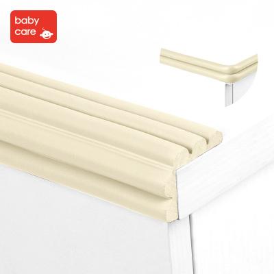 babycare寶寶安全防撞條嬰兒防護包邊條加厚加寬兒童桌角護角2米防撞加厚角 M型多功能條米色 4020