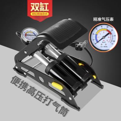 腳踩打氣筒高壓迷你便攜式自行車電動車摩托車汽車家用腳踏充氣泵