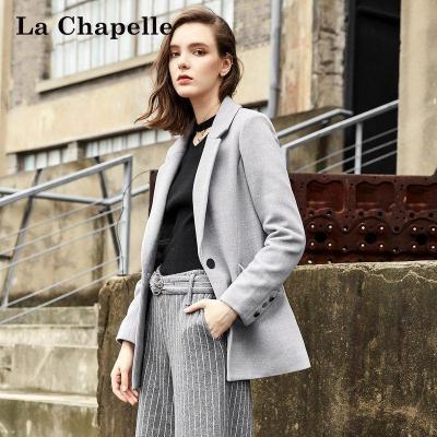 新品拉夏贝尔Puella秋冬装新款韩版百搭时尚显瘦毛呢西装外套女20010863