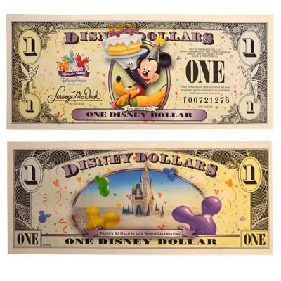昊藏天下 迪士尼紀念鈔 2009年迪士尼 1美元紀念鈔單張