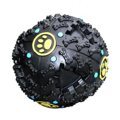 寵物玩具 漏食球 怪叫球 金毛泰迪薩摩狗狗發聲玩具響聲球 中型犬玩-顏色隨機