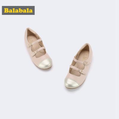 巴拉巴拉童鞋女童单鞋公主鞋大童2019新款秋季简约甜美儿童皮鞋女