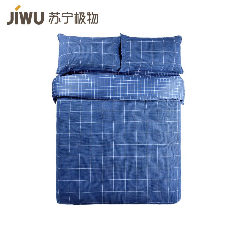 JIWU брэндийн ор х?нжилийн даавуу 4 хос 200*230cm цэнхэр