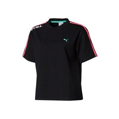 彪馬Puma女子拼色短袖運動服運動T恤 Chase57767401