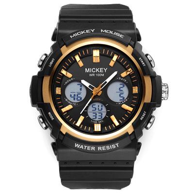 迪士尼(DISNEY)成人手表 多功能100m防水夜光男士学生时尚双显运动电子表男15058