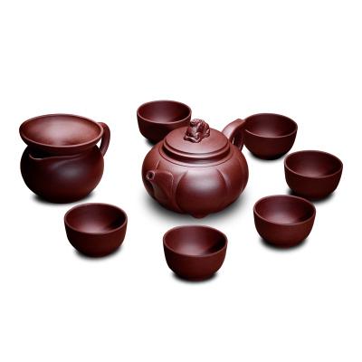 宜興紫砂茶具套裝 手工原礦老紫泥泡茶壺 功夫茶壺茶杯茶漏