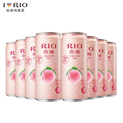 【酒廠自營】RIO銳澳 微醺白桃口味雞尾酒套餐 預調酒洋酒330ml*8罐