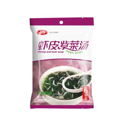 漁禾島 速食紫菜套裝蝦皮紫菜湯和蛋花紫菜湯熟紫菜速溶沖泡即食小包裝內附調料包