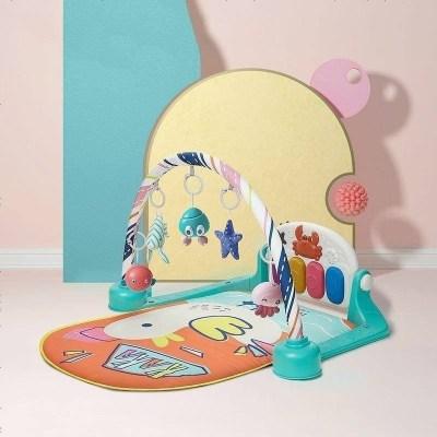 babycare嬰兒健身架腳踏鋼琴0-3-6-12個月新生兒寶寶益智音樂玩具嬰兒玩具 卡卡達鴨