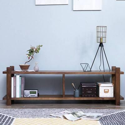 杞沐现代简约实木电视柜茶几组合实木小户型客厅电视机柜简易电视柜
