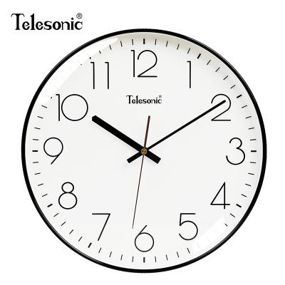 天王星( Telesonic)現代簡約鐘表家用客廳靜音掛鐘時尚北歐藝術輕奢裝飾時鐘大氣個性創意臥室石英鐘