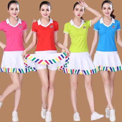 夏季中老年廣場舞服裝新款短袖運動團體服健身表演服裝跳舞衣服女