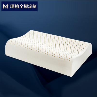 玛格天然乳胶枕 高低两面双向护颈椎枕抑菌防螨天然枕芯成人枕