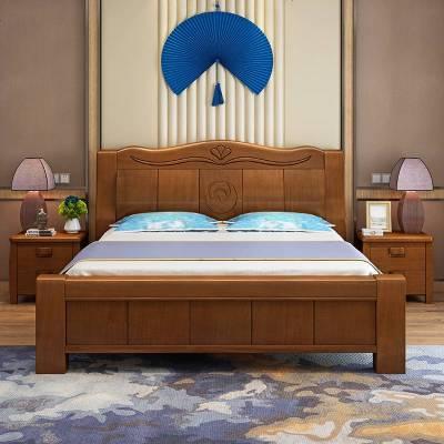 夢引 中式套床衣柜組合套裝臥室實木六件套主臥整套屋婚房成套家具