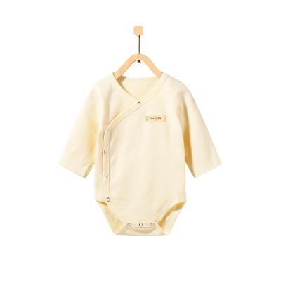 童泰TONGTAI初生兒側開純棉連體內衣0-18個月寶寶包屁衣哈衣爬爬服嬰幼兒通用80cm