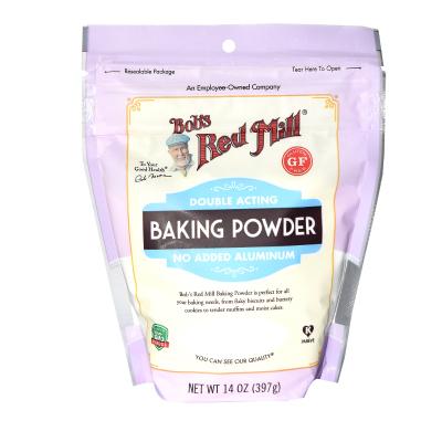 原裝進口 鮑勃紅磨坊(Bob'sRedMill)無鋁泡打粉蛋糕發酵烘焙膨松劑 面包 蛋糕 烘焙輔料 397g