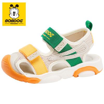 BOBDOG HOUSE巴布豆童鞋兒童涼鞋夏季包頭男童女童寶寶軟底沙灘鞋B6256