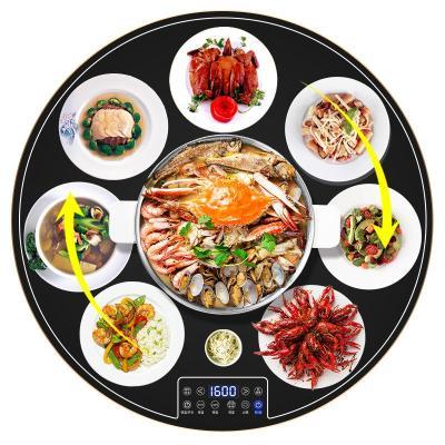 火鍋飯菜保溫板家用暖菜板熱法耐(FANAI)菜板保溫板加熱保溫餐桌可旋轉