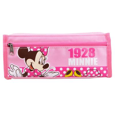 迪士尼文具袋 小學生米奇米妮卡通男女兒童大容量筆袋DM5618粉色
