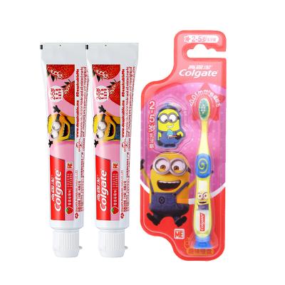 高露洁妙妙小童组合(儿童牙膏(2-5岁以上) -香香草莓味40g两只+儿童牙刷