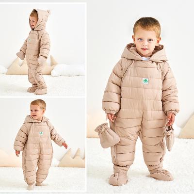 雪千寻婴儿连体衣男女宝宝棉衣服冬季爬服加厚保暖哈衣儿外出服