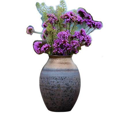 民宿風手工粗陶 窯變做舊陶罐花瓶花器花插 藝術風格中式美式【定制】 窯變花瓶(不含花)