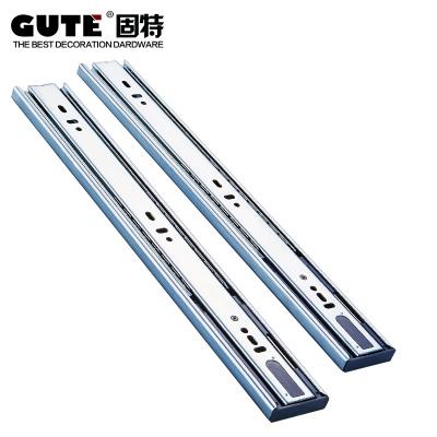 固特GUTE 冷軋鋼三節緩沖阻尼導軌靜音滾珠滑軌抽屜軌道 一副價 18寸45cm