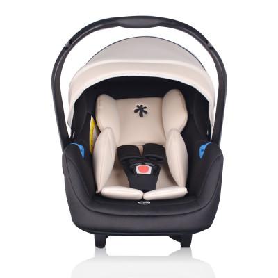 機靈寶貝(Smartbaby)新生兒嬰兒提籃式兒童汽車安全座椅0-15個月寶寶便攜式搖籃車載手提籃 米黑色