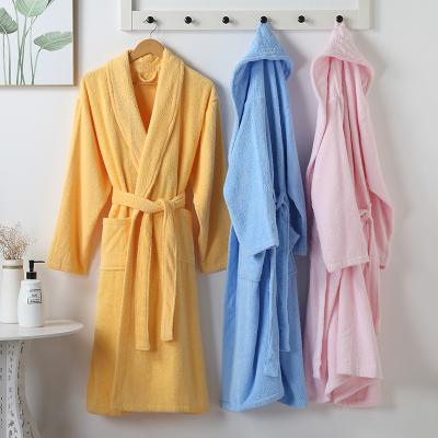 竹一百 纯棉加厚款浴袍睡袍全棉情侣通用浴衣洗澡游泳浴袍