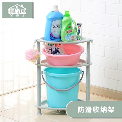 盆架子衛生間洗手盆架落地農村三角臉盆架塑料老式家用浴室置物架