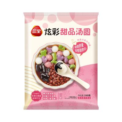 三全炫彩甜品汤圆组合装(玫瑰红豆)260g